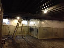 extraordinary ideas painting basement ceiling black diy finished