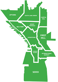 seattle map by district 2030 districts project portal high performance building districts