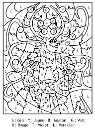 Magique lettres renne noel  Niveau moyen CPCE1  Coloriages magiques