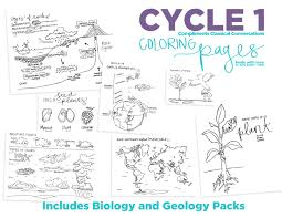science coloring pages classical conversations cycle 1