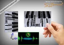 Business Card Music Creative Business Card Design For Music Composer By Suyogjain On