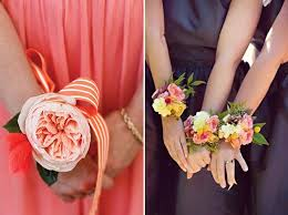 bridesmaid corsage an alternative to bridesmaids bouquets wrist corsages brides