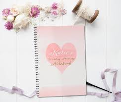 wedding planning notebook personalised wedding planning notebook gift by august grace