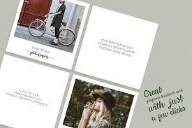 Business Card Invitation Square Polaroid Photographer Business C Design Bundles