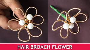 flowers for hair how to make hair broach flowers easy brooch tutorial for