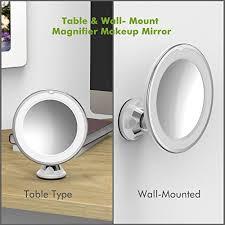Magnifying Makeup Mirror With Light 7x Magnifying Makeup Mirror Olaxer Eb601 Adjustable 7x Magnifying Li