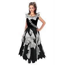 girls zombie prom queen halloween fancy dress kids costume age 8