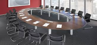 Large Oval Boardroom Table Mobile Tables Morph New Space Endlessly Ambience Doré