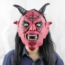 Supernatural Halloween Costumes Devil Satan Lucifer Demon Scary Horror Mask Fancy Dress Halloween