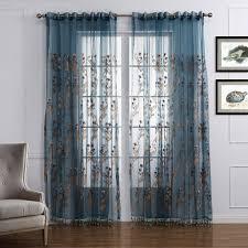 amazon de gwell luxus elegant transparent vorhang gardine blumen