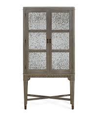 distressed glass door bar cabinet