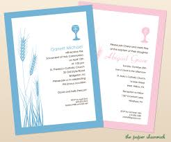 Baptism Invitations Cards Wheat And Chalice First Communion Invitations Communion