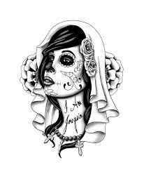 day of the dead tattoo stencils pictures to pin on pinterest