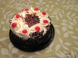 happy birthday chocolate cake for friend with candles azq le kids