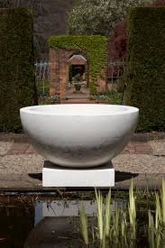 Outdoor Pots And Planters by Geo Rok White Bowl On Plinth Giant Planter Or Maybe A Water