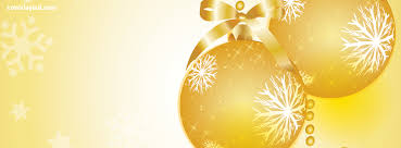 yellow christmas ball ornaments facebook cover yellow christmas