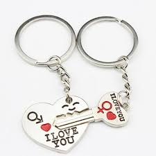 love key rings images Silver plated couple lover keychain jewelry heart keyring love key jpg