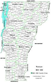 Map Of Vt Vermont Genealogy Resources County Changes