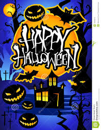happy halloween poster stock photos image 16530313