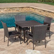 Wayfair Patio Dining Sets Telescope Casual Villa Sling 5 Outdoor Patio Dining Set