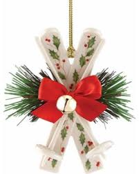 deal alert 50 lenox skis ornament ivory