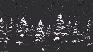 a christmas snow black and white christmas gif find on giphy