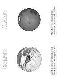 planets mini book earth u0026 mars woo jr kids activities