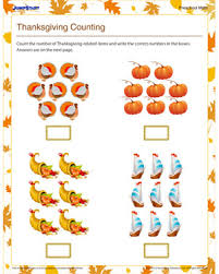 thanksgiving counting u2013 free printable counting worksheet for kids