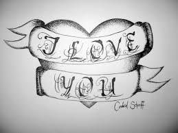 i love you tattoo heart by andicandi509 on deviantart