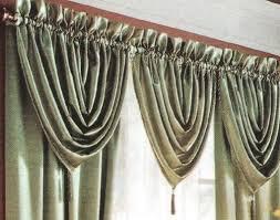 cenefas de tela para cortinas tres cortinas diferentes con un molde