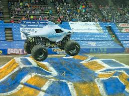 monster truck shows in indiana video how crews transform us bank arena with 100 truckloads of dirt