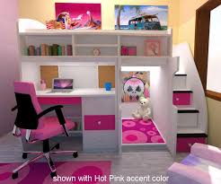 Images About Girls Rooms On Pinterest Girl Loft Beds - Girls bunk bed with desk