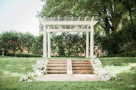 outdoor wedding venues in nc white wedding arbor in the separk mansion garden gastonia nc