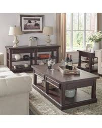 Wood Accent Table Cyber Monday Savings Jenson Espresso Wood Accent Tables By