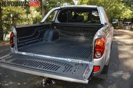 mitsubishi mini truck bed size 2013 mitsubishi triton glx r review performancedrive