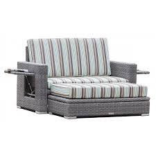 grey wicker loveseat with storage ottoman