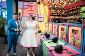 carnival weddings retro carnival wedding santa pier equally wed modern