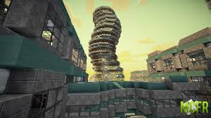 futuristic minecraft city