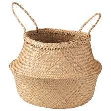 Wicker Laundry Basket With Lid Ikea Flådis Basket Seagrass 25 Cm Ikea