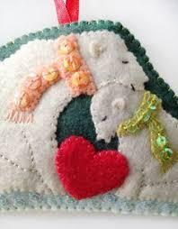 11 best polar bears images on pinterest polar bear felt crafts