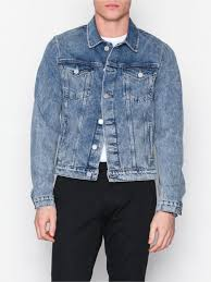 light blue denim jacket mens shxjeffrey light blue denim jacket selected homme light blue