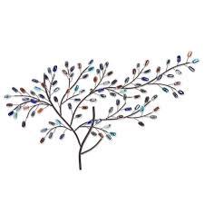 southern enterprises herzer metal glass tree decorative wall