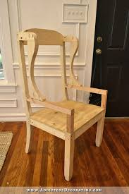 Build Dining Room Chairs Diy Wingback Dining Chair How To Build The Chair Frame