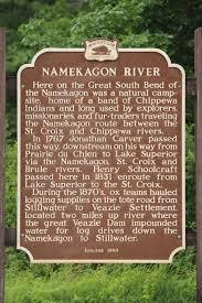 Namekagon River Map Wisconsin Historical Markers Marker 162 Namekagon River