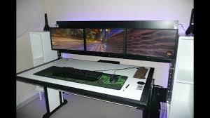 bureau gaming bureau gaming unique 3 écrans avec trooper a visionner