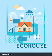 eco house flat design vector illustration 342623822 shutterstock