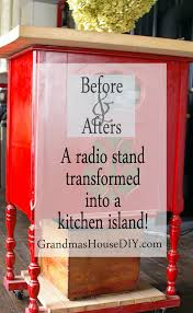 Painting A Kitchen Island Red Kitchen Island Built Out Of An Old Radio Stand With Castors