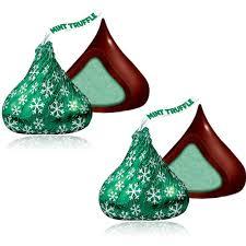 hersheys holiday kisses dark chocolate mint truffle 70 pc bag
