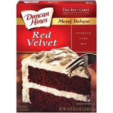 duncan hines signature red velvet moist cake mix 16 5 oz