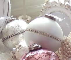 vintage pink glass ornaments bottle brush tree